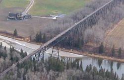 Mintlaw trestle aerial view