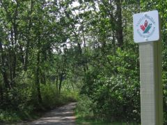 Trans Canada Trail marker in Red Deer